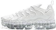 Женские кроссовки Nike Air VaporMax Plus White/Pure Platinum (Найк Вапормакс) белые