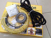 Кабель для теплого пола  в комплекте с Терморегулятором  (готовый к монтажу) 2.7 м.кв., фото 1