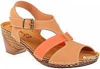 Женские стильные песочные босоножки на каблуке, ортопедическая стелька 41 Inblu VL14ET