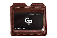 Картхолдер Grande Pelle, коричневый 307623, кожа