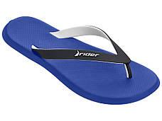 Оригинал Вьетнамки мужские 10594-22101 Rider R1 Blue/Black/White Синие