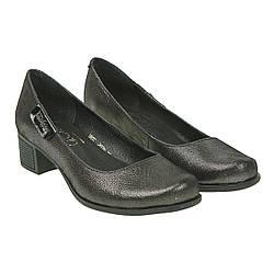 Туфли женские Gloria (удобный каблук, стильные, удобные, с блеском)
