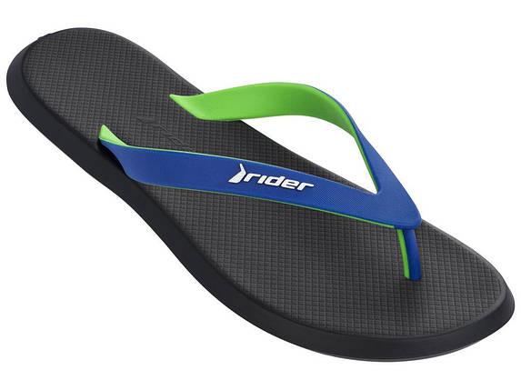 Оригинал Вьетнамки мужские 10594-02915 Rider R1 Black/Blue/Green Черные, фото 2