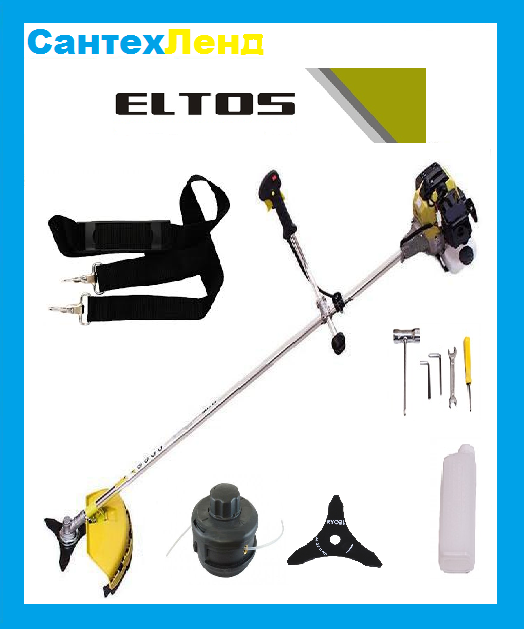 Бензокоса Eltos БГ-3700 (3 Ножа,1 Катушка)