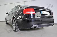 Диффузор заднего бампера тюнинг накладка Audi A6 C6 стиль S-line