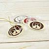 Шоколадный пасхальный декор Т-9. Размер:30х50мм,h=2мм,вес 4,43гр