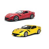 Автомодель Ferrari F12TDF 1:24 асорті жовтий, червоний Bburago (18-26021), фото 1