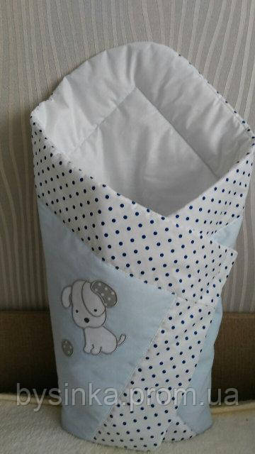 """Конверт-одеяло на выписку новорожденного, трансформер- """"Песик-горох"""""""