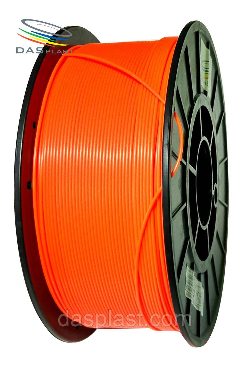 АБС пластик 1 кг для 3d принтеров и ручек, оранжевый неоновый