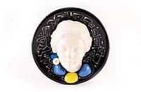 Комплект тарелок настенных керамических с барельефом в греческом стиле,2 штуки