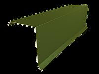 Планка торцевая для крыши Тип 4 | Ветровая планка для металлочерепицы, ондулина и профнастила - Цена