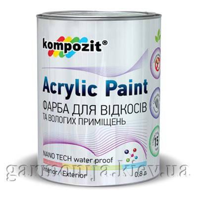 Краска для откосов Kompozit, 0.8 л, фото 2