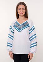 Украинская сорочка-вышиванка традиционного фасона с широкими рукавами (0036), фото 1