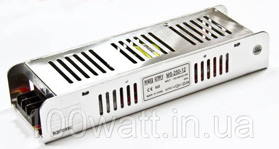 Блок питания MS-250-12, 12V 20.8А 250W для светодиодной ленты