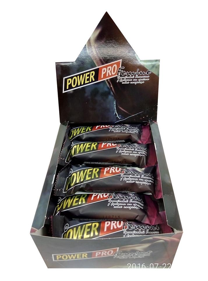 Протеїнові батончики Femine Power Pro 36% 60 г (20 шт)