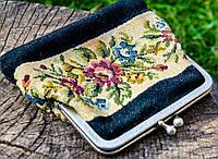 Восхитительный старинный дамский кошелек! Вышивка., фото 1