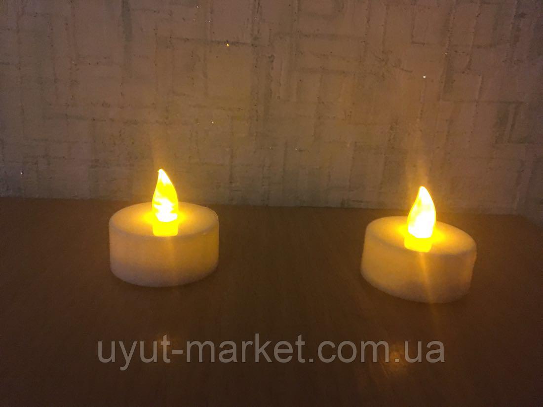 Светодиодная свеча чайная 10шт, 39х37мм - фото 8
