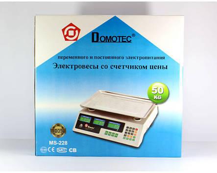 Весы торговые ACS 50kg/5g MS 228 Domotec 6V, фото 2