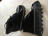 Только 41 размер маломерят 25,5 см! Крутые демисезонные женские черные ботинки эколак на шнуровке
