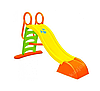 Горка детская игровая пластиковая  Mochtoys 187см XL с лестницей (горка спуск, горка волна)