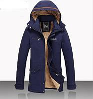 Молодежная зимняя куртка, пуховик, парка на овчине Jeep .Натуральный пух.