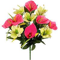 Букет искусственных цветов Калы композиция , 45 см