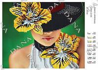 Схема для вышивания бисером - Дама в шляпе