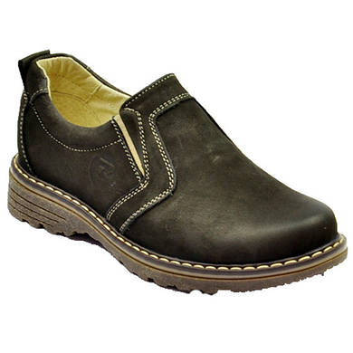 Кожаные туфли для мальчика Bistfor, коричневые