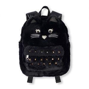 Рюкзак меховой черный кот The Children's Place Girls' Cat Backpack
