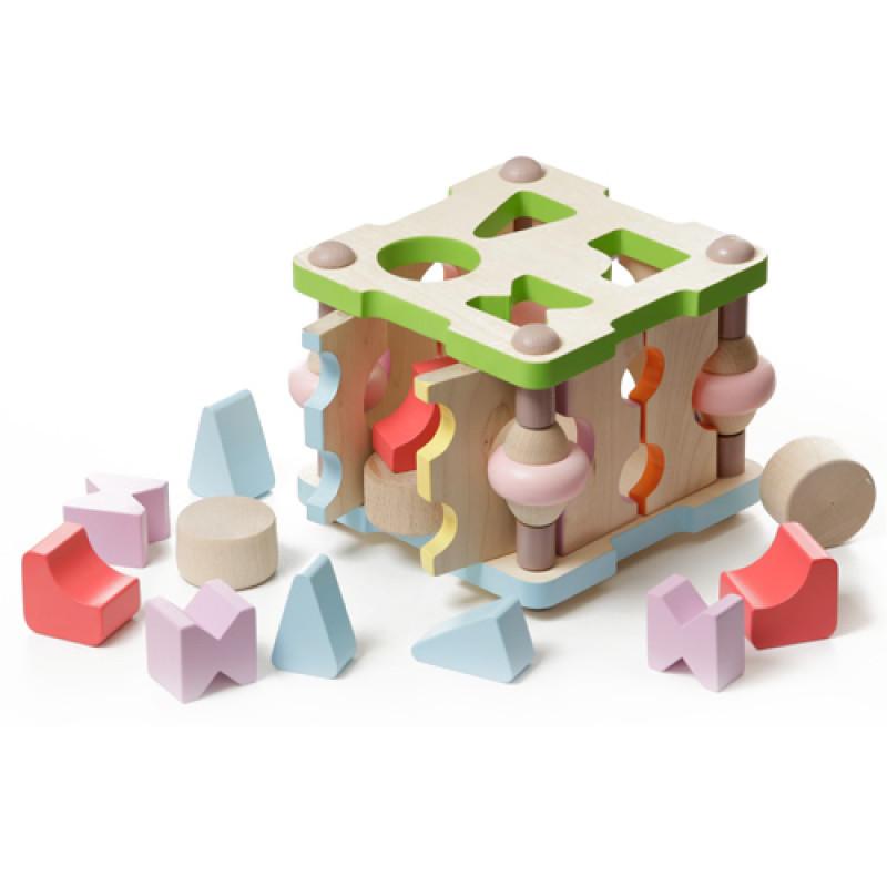 Деревянная игрушка Cubika Сортер квадратний малий LS-3