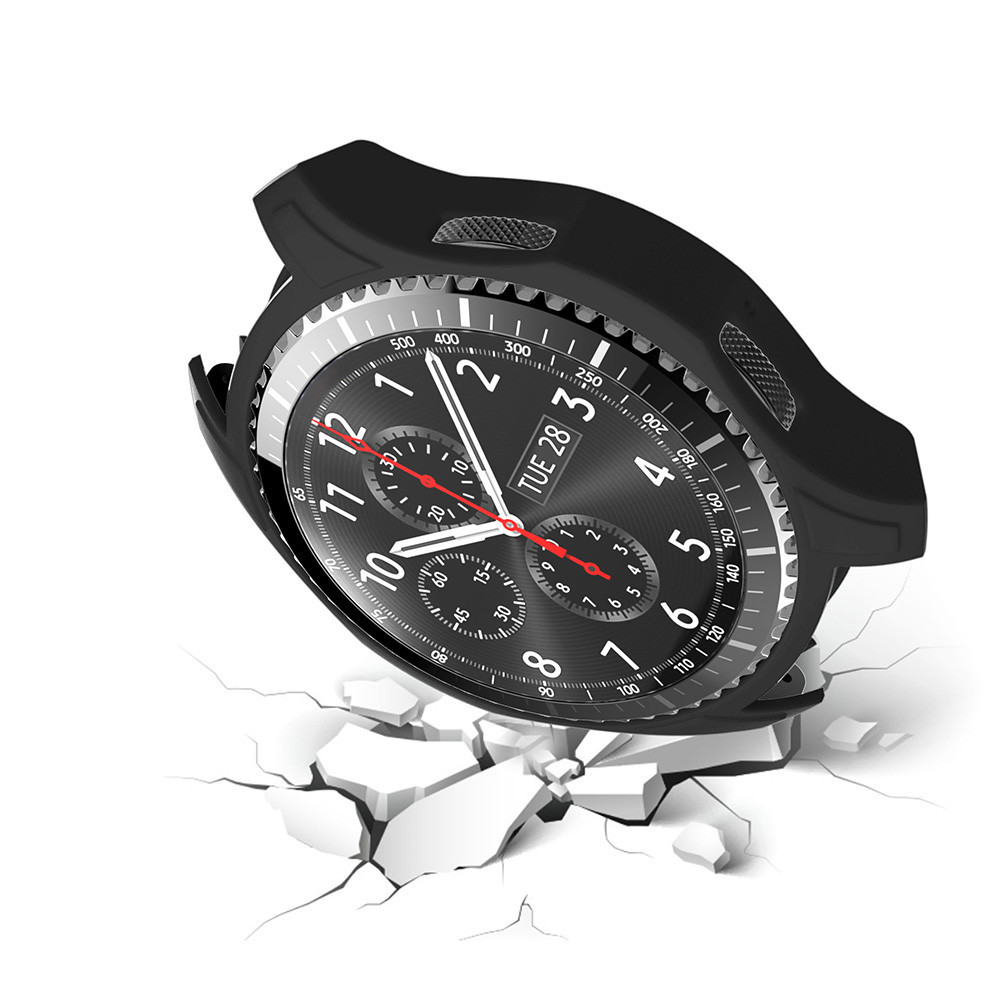 Силиконовый защитный корпус Primo для часов Samsung Gear S3 Frontier (SM-R760) - Black
