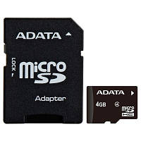 Карта памяти A-DATA 4GB microSD class 4 (AUSDH4GCL4-RA1)