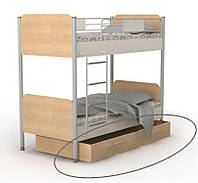 Кровать двухъярусная М-12 Mega + ящик выдвижной М-13-12