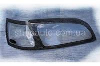 Kia Rio 2005-2010 защита фар карбон