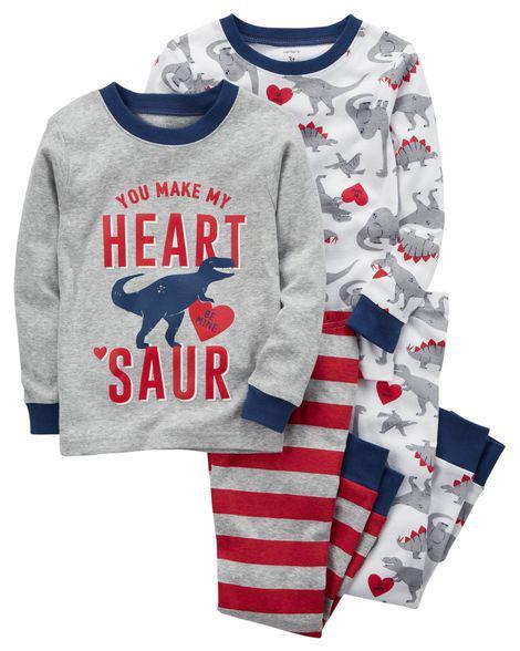 Комплект бавовняних піжам Динозавр з 4-х частин