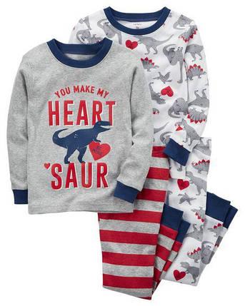 Комплект бавовняних піжам Динозавр з 4-х частин, фото 2