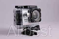 Экшн камера Sports FullHD 1080p экран Action camera водонепроницаемый бокс Waterproof 30m