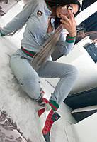 Костюм женский спортивный с цветной отделкой