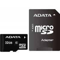 Карта памяти A-DATA 32GB microSDHC class 4 UHS-I (AUSDH32GCL4-RA1)