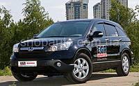 Honda CRV 2006-2009 защита фар карбон