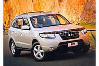 Hyundai Santa Fe 2006-2011 защита фар карбон