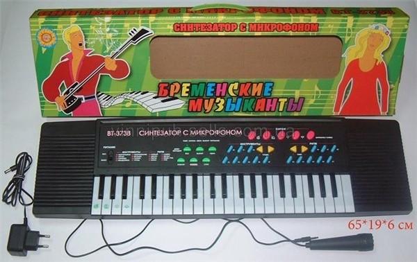 Детский музыкальный синтезатор с микрофоном