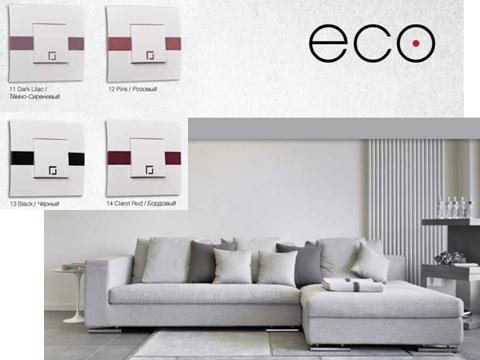 Розетка компьютерная двойная ECO Mono Electric белая без вставки