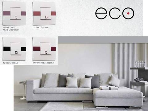 Розетка компьютерная двойная ECO Mono Electric белая без вставки, фото 2