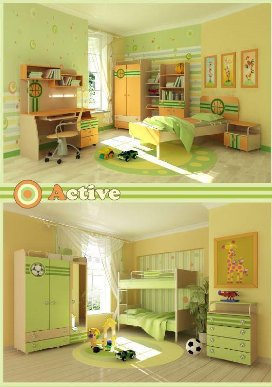 Детская комната Active (варианты интерьера)