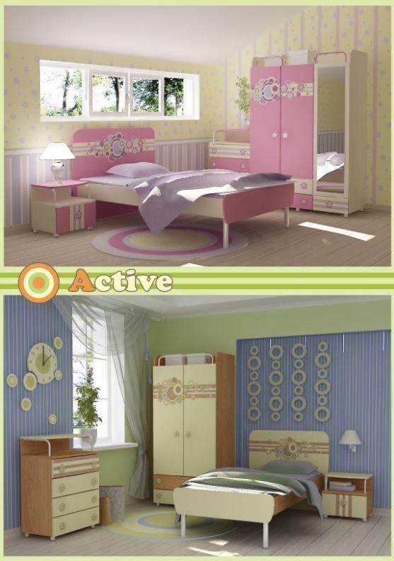 Детская комната Active (варианты интерьера 2)
