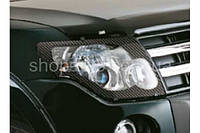 Mitsubishi Pajero 2007- защита фар карбон