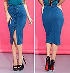 Женская замшевая юбка миди украшенная шнуровкой, фото 3