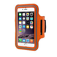 """Наручный Чехол KLL для телефона 4.5-4.7"""" на руку для бега оранжевый"""