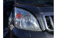 Toyota Land Cruiser Prado 120 2003-2008 защита фар прозрачная